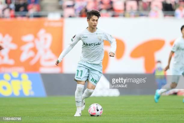 Haruya IDE of Tokyo Verdy in action during the J.League Meiji Yasuda J2 match between Albirex Niigata and Tokyo Verdy at Denka Big Swan on November...