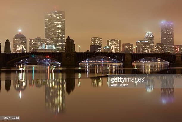 Harvard Bridge with Boston Skyline
