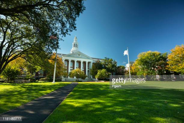 harvard business school in boston massachusetts usa - ivy league university stock pictures, royalty-free photos & images