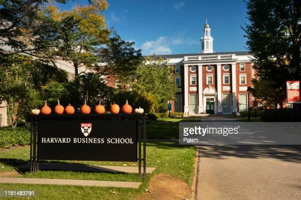 harvard business school in boston massachusetts usa - harvard university stock pictures, royalty-free photos & images