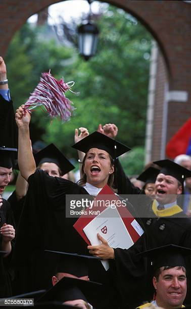 Harvard Business School students celebrate their graduation in Boston It is one of the graduate schools of Harvard University and is one of the...