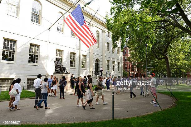 harvard campus,boston - ivy league university stock photos and pictures