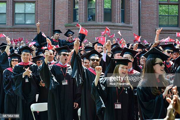 Harvard Commencement held in Harvard Yard in Cambridge MA May 30 2013 Honorary degrees were awarded the Oprah Winfrey and Boston Mayor Thomas Menino