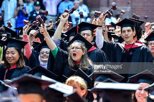 Harvard Commencement held in Harvard Yard in Cambridge MA May 30 2013