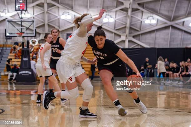 Harvard Crimson forward Rachel Levy drives to the basket during the first half of the Ivy League college basketball game between the Harvard Crimson...