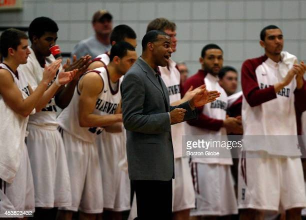 Harvard Crimson head coach Tommy Amaker on the sidelines as Harvard took on Princeton at Lavietes Pavilion
