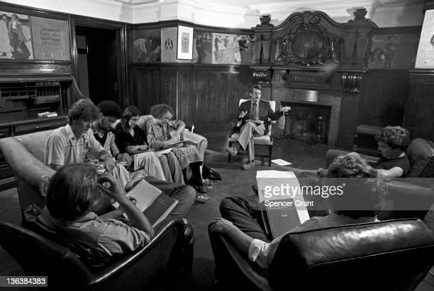 Harvard English class seminar Cambridge Massachusetts 1979