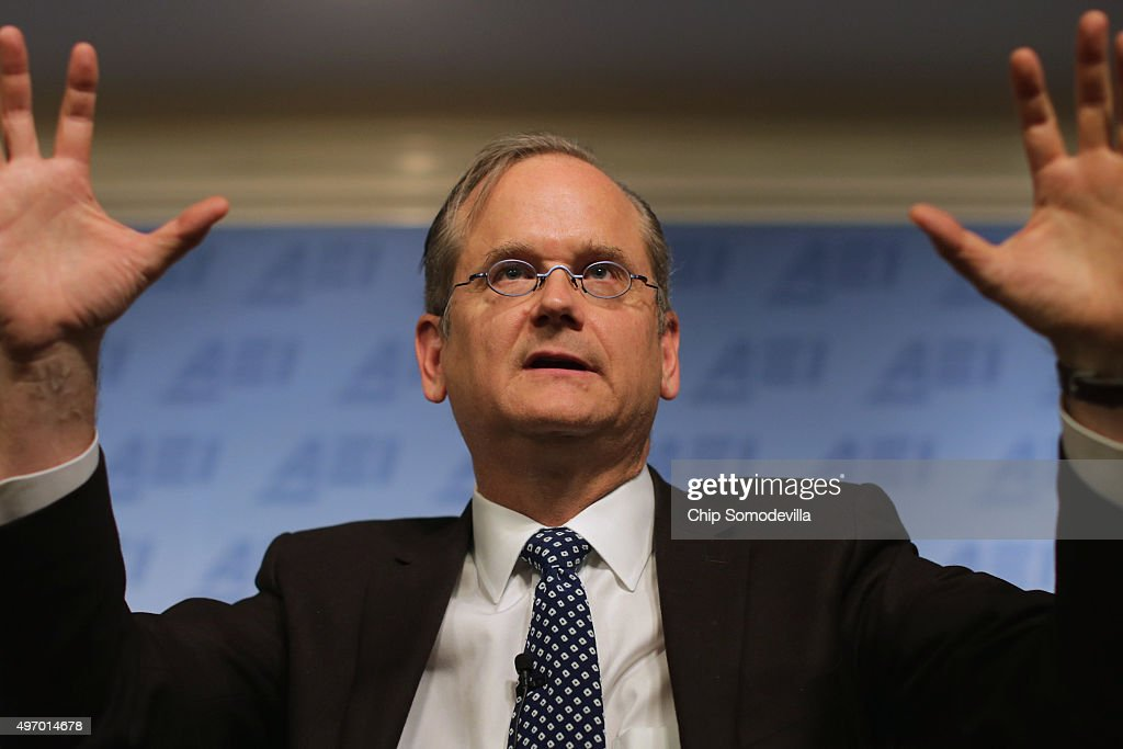 Lawrence Lessig Discusses Campaign Finance And The 2016 Election : Nachrichtenfoto
