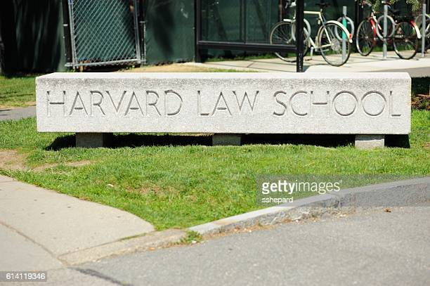 Harvard Law School sign