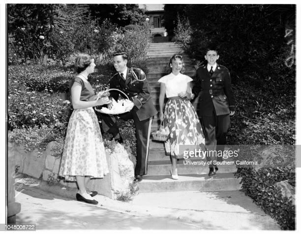 Harvard school festival April 27 1951 SocietyDon SorensenMuff MassieColley ButlerMeredith NobleAndrew WesthemMary Ann CassidyDon KollLinda BurtonFred...