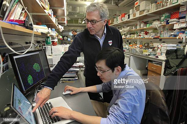 Harvard stem cell scientist Doug Melton and his postdoc Peng Yi in the lab Together they have discovered a hormone that in early experiments...