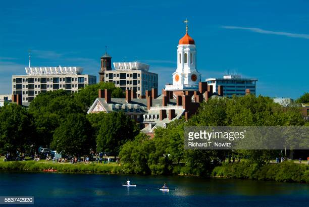 harvard university and charles river - cambridge massachusetts stock pictures, royalty-free photos & images