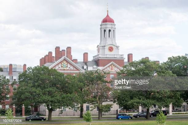 Harvard University building on August 30, 2018 in Cambridge, Massachusetts. The U.S. Justice Department sided with Asian-Americans suing Harvard over...
