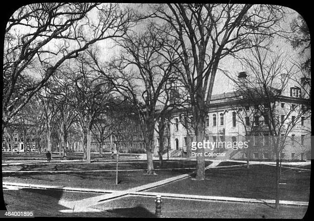 Harvard University, Cambridge, Massachusetts, USA, late 19th or early 20th century. Founded in 1636, Harvard University is named after its first...