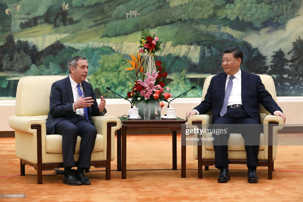 CHN: Harvard University President Lawrence Bacow Meets President Xi Jinping