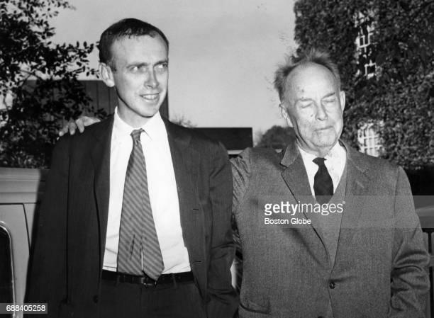 Harvard University professor James Dewey Watson and his father October 1962 Professor Watson was awarded the Nobel Prize in Medicine this year
