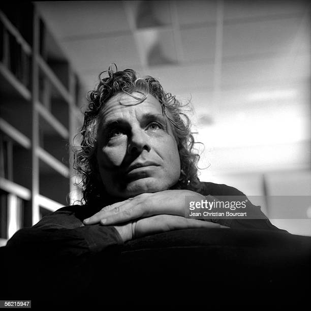 Harvard University Scientist Steven Pinker poses for a portrait in his office on October 10 2005 in Boston MA
