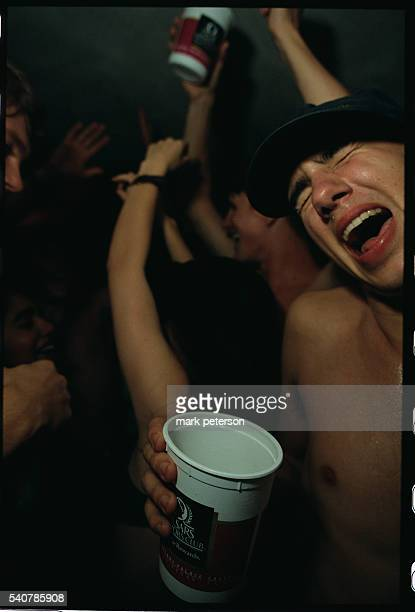 Harvard University Students Party in a Dormitory