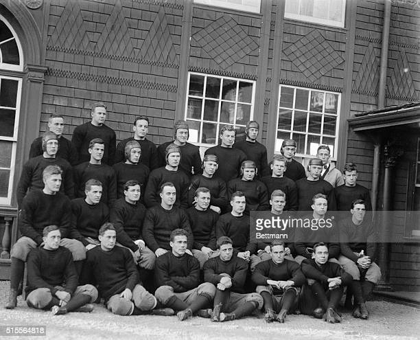 Harvard Varsity Football Team and substitutes November 1914 Front row Wilcox Green McKinlock King Rollins and Watson Second row Weston Wallace...