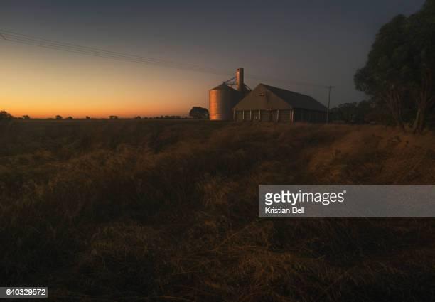 Harvest barn scene in rural New South Wales