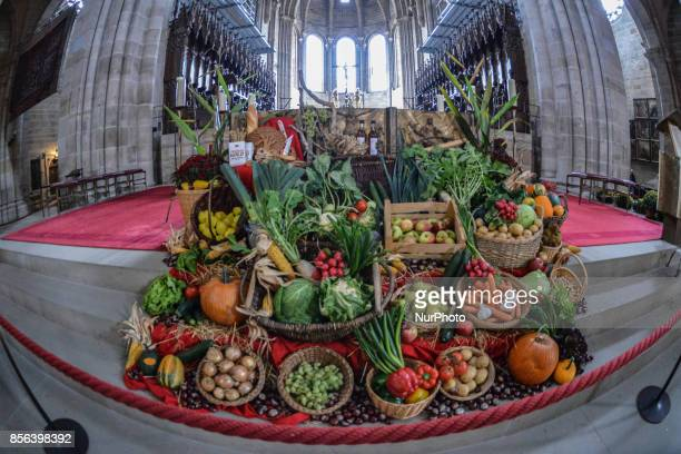 Harvest Festival in the catholic cathedral of Bamberg Bavaria on Ocotber 1 2017