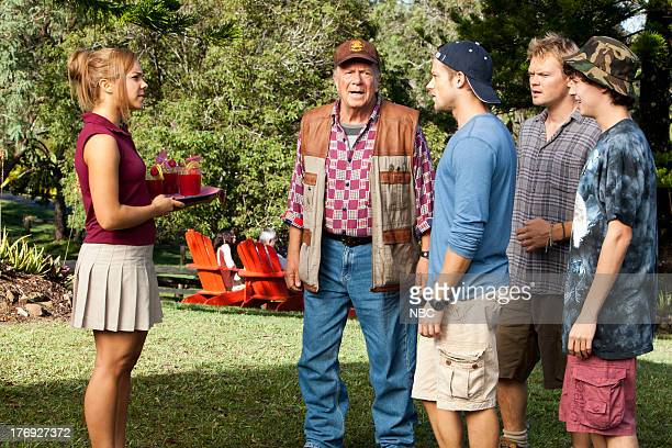 "Harvest Moon"" -- Episode 108 -- Pictured: Dena Kaplan as Sarah Brennen, Jack Thompson as Jack ""Grandad"" Jessup, Tim Pocock as Robbie Matthews,..."