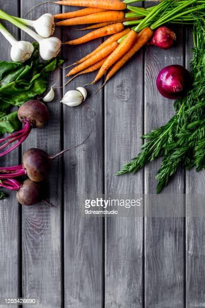 harvest vegetables home gardening top view