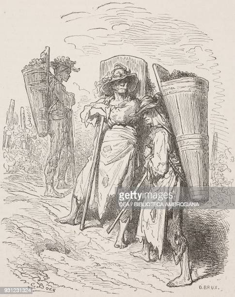 Harvesters from Jerez de La Frontera Spain drawing by Dore from Travels in Spain by Gustave Dore and Jean Charles Davillier Cadiz from Il Giro del...