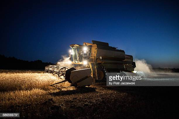 Harvesting at night