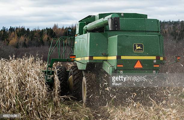 harvesting corn - john deere stock pictures, royalty-free photos & images