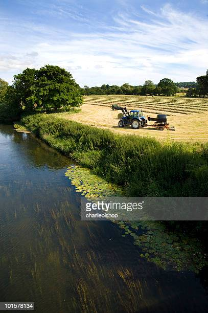 Harvesting in the English countryside