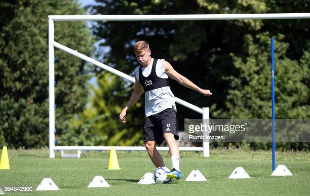 Harvey Barnes during the Leicester City preseason training camp on July 09 2018 in Evian France