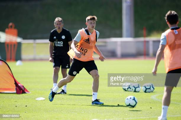 Harvey Barnes during the Leicester City preseason training camp on July 11 2018 in Evian France