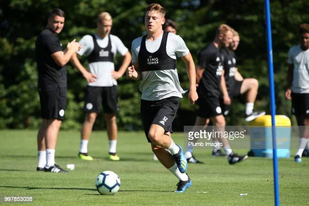 Harvey Barnes during the Leicester City preseason training camp on July 13 2018 in Evian France