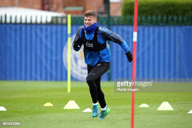 Harvey Barnes during the Leicester City training session at Belvoir Drive Training Complex on April 27 2018 in Leicester United Kingdom