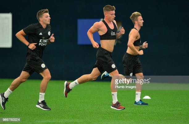 Harvey Barnes during training as Leicester City Players Return to PreSeason Training at Belvoir Drive Training Complex on July 02 2018 in Leicester...
