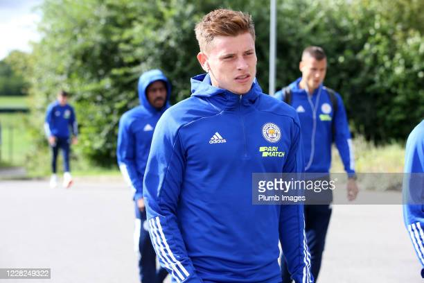 Harvey Barnes of Leicester City arrives ahead of the pre season friendly match between Leicester City and Sheffield Wednesday at Loughborough...