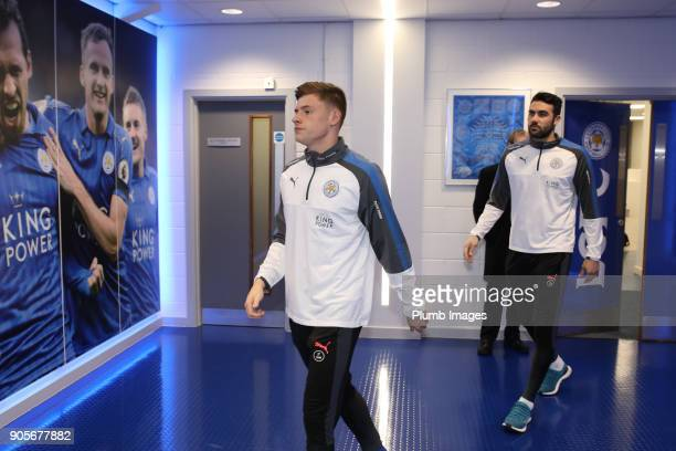 Harvey Barnes of Leicester City arrives at King Power Stadium ahead of The Emirates FA Cup Third Round Replay between Leicester City and Fleetwood...