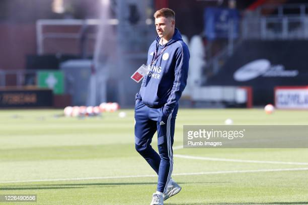 Harvey Barnes of Leicester City at Vitality Stadium ahead of the Premier League match between AFC Bournemouth and Leicester City at Vitality Stadium...