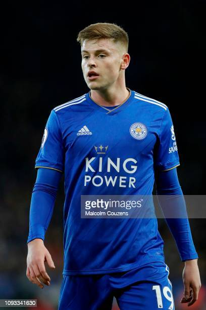 Harvey Barnes of Leicester City during the Premier League match between Leicester City and Southampton FC at The King Power Stadium on January 12...