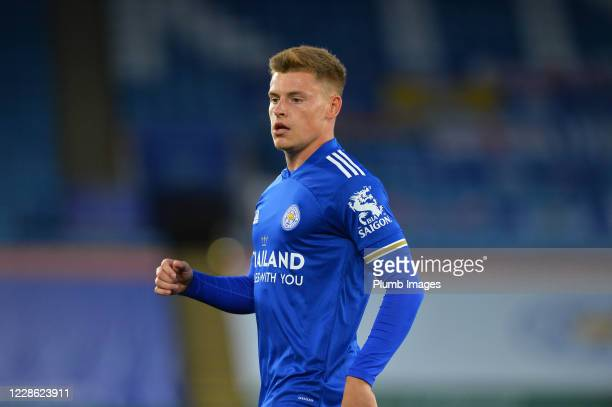 Harvey Barnes of Leicester City during the Premier League match between Leicester City and Burnley at The King Power Stadium on September 20 2020 in...