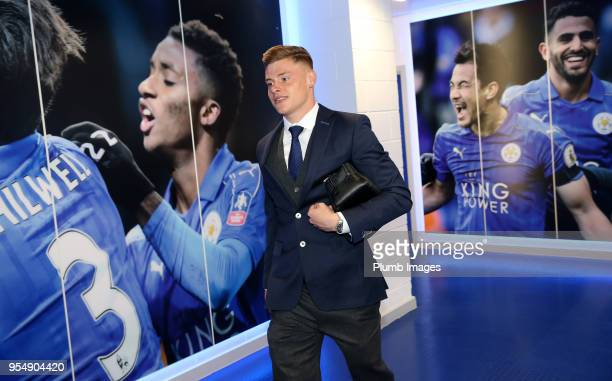 Harvey Barnes of Leicester City during the Premier League match between Leicester City and West Ham United at King Power Stadium on May 5th 2018 in...