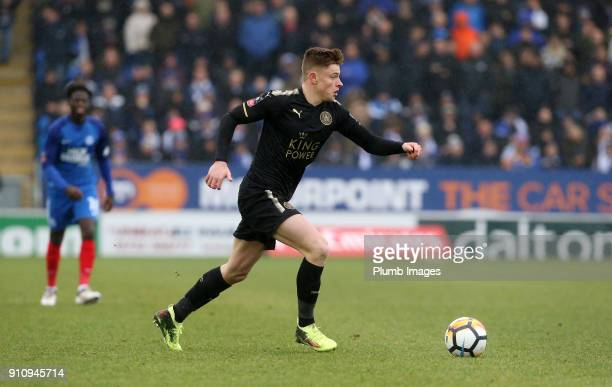 Harvey Barnes of Leicester City in action during The Emirates FA Cup Fourth Round tie between Peterborough United and Leicester City at ABAX Stadium...