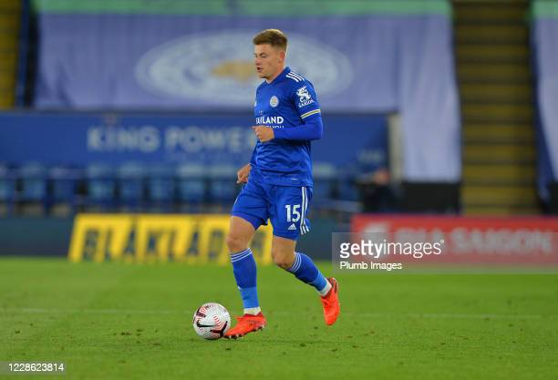 Harvey Barnes of Leicester City in action during the Premier League match between Leicester City and Burnley at The King Power Stadium on September...