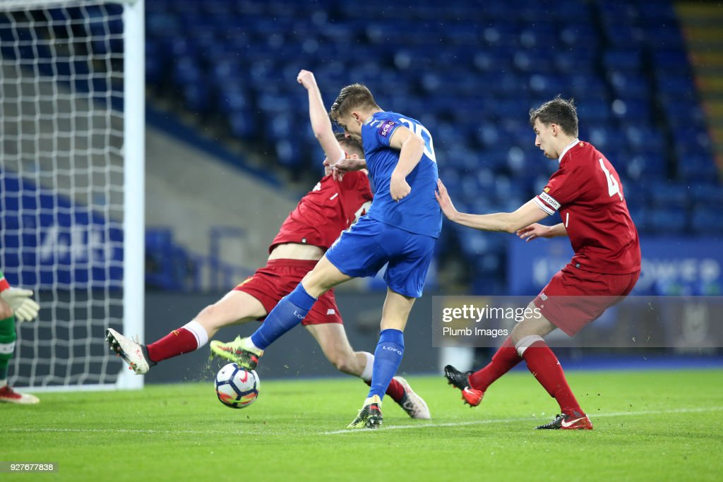 Harvey Barnes of Leicester City scores to make it 1-0 the Premier League 2 match between Leicester City and Liverpool at King Power Stadium, on March 5th, 2018 in Leicester, United Kingdom