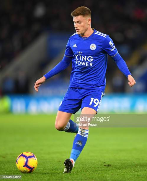 Harvey Barnes of Leicester in action during the Premier League match between Leicester City and Southampton FC at The King Power Stadium on January...