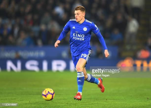 Harvey Barnes of Leicester in action during the Premier League match between Leicester City and Brighton Hove Albion at The King Power Stadium on...