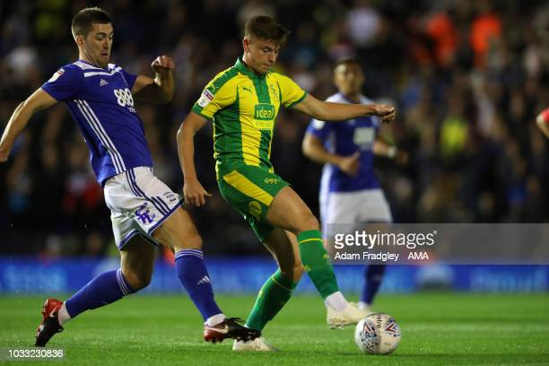 Harvey Barnes of West Bromwich Albion and Gary Gardner of Birmingham City during the Sky Bet Championship match between Birmingham City and West...