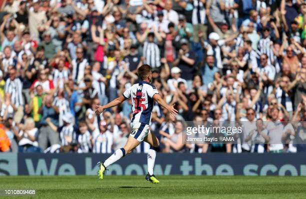 Harvey Barnes of West Bromwich Albion celebrates after scoring a goal to make it 11 during the Sky Bet Championship match between West Bromwich...