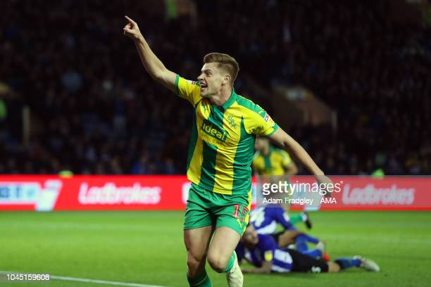 Harvey Barnes of West Bromwich Albion celebrates after scoring a goal to make it 22 during the Sky Bet Championship match between Sheffield Wednesday...